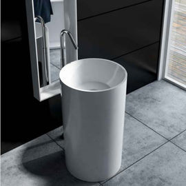 Solid Surface Freestanding Bathroom Basin Durable  High Toughness